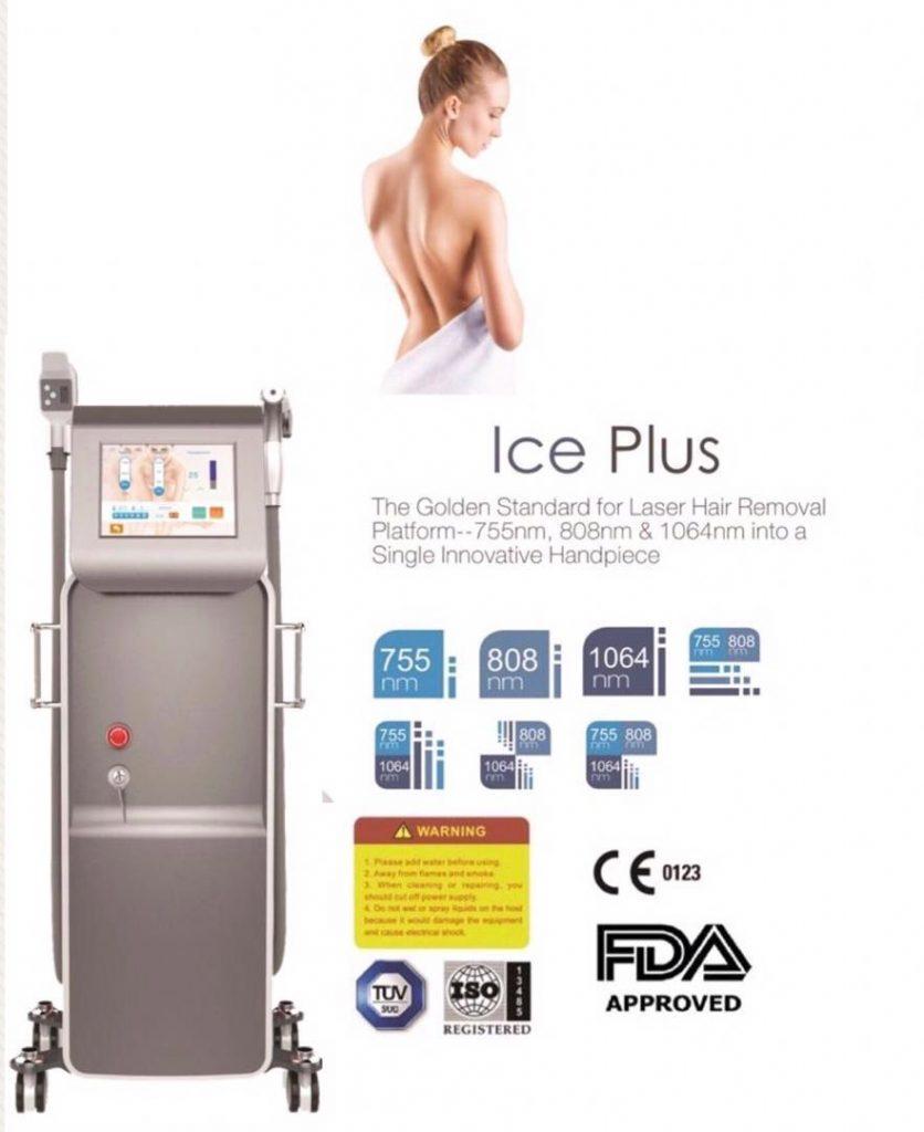 دستگاه ice platina plus دستگاه لیزر موهای زاید