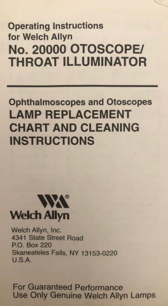 ست معاینه چشم و گوش آفتالموسکوپ و اتوسکوپ