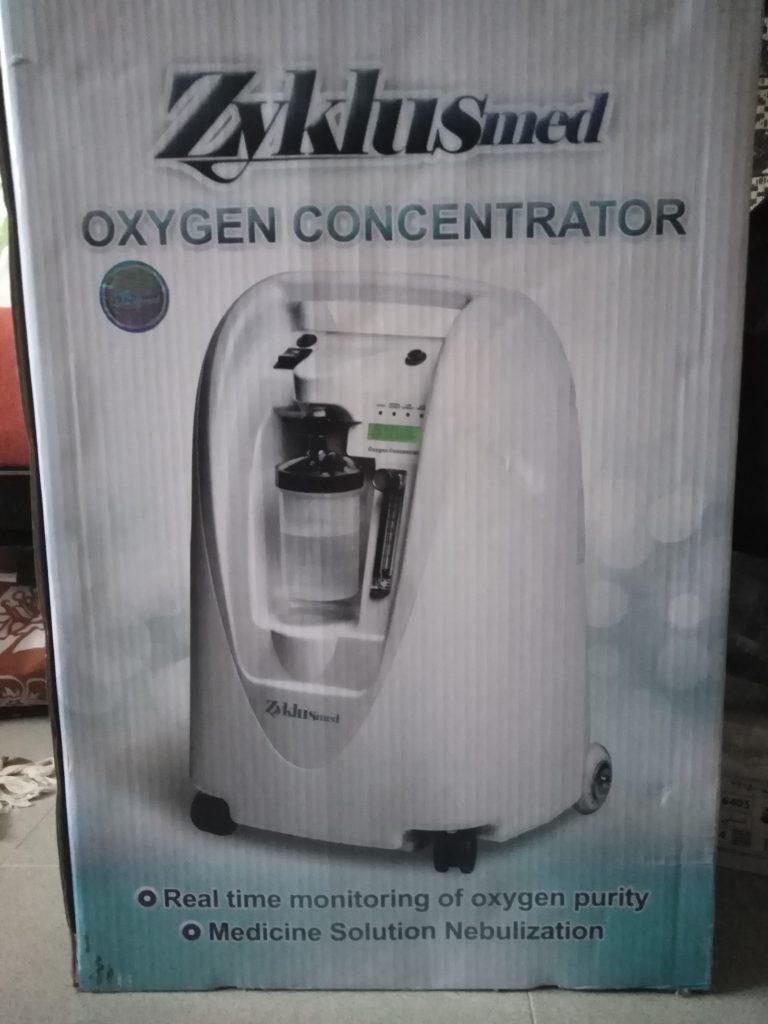 فروش یک دستگاه اکسیژن ساز ۵ لیتری Zyclusmed دو میلیون زیر قیمت خرید